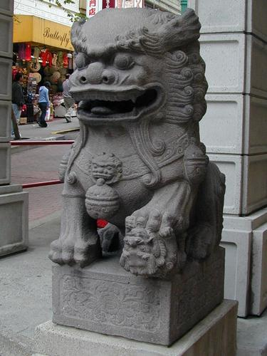 Statuary at the Gate to Chinatown