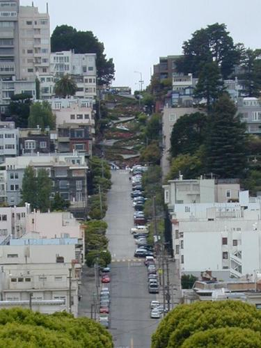 Lombard Street in the Distance