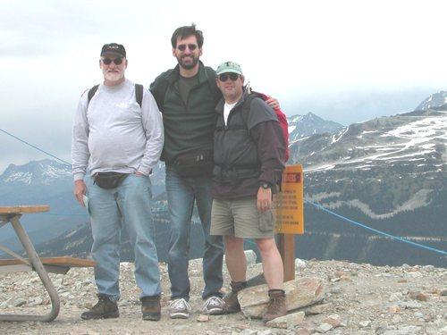 Paul, Norm, and Stuart near Little Whistler Peak