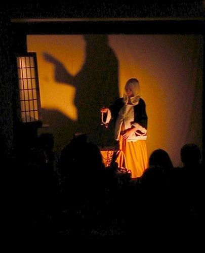Tableau Vivant: A Woman Holding a Balance