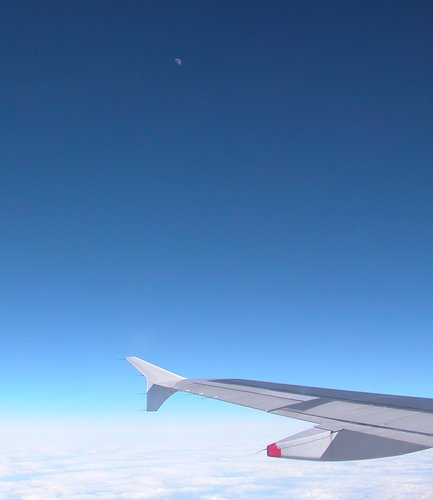 The Moon from 41,000 Feet