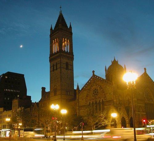 Night Scene in Boston