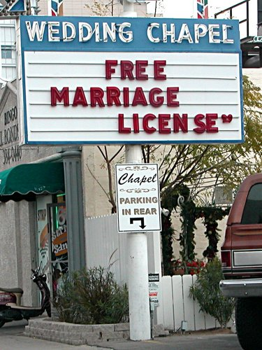 Free marriage license
