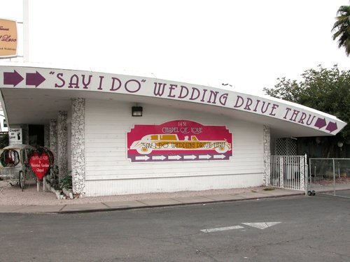 Wedding drive through