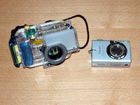 Camera and under-water housing
