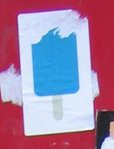 Blue popsicle