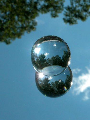 Globe and sky