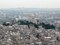 Sacre Coeur from Tour Montparnasse