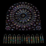 South Rose Window in Notre Dame de Paris