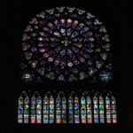 North Rose Window in Notre Dame de Paris
