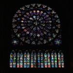 North Rose Window in Notre Dame de Paris