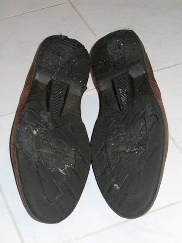 The soles of my shoes