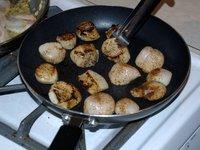 Blackened scallops (third course)