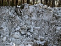 Plowed snow