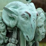 Detail of a lamppost at The Breakers