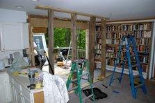 Patio doors under construction
