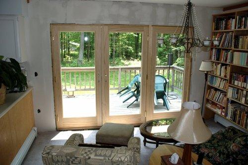 Patio doors: after (inside)