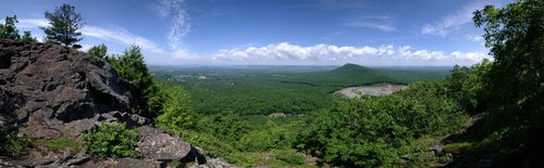 The Pioneer Valley panorama from Bare Mountain