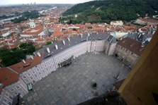 Prague Castle from the spire of St Vitus Cathedral