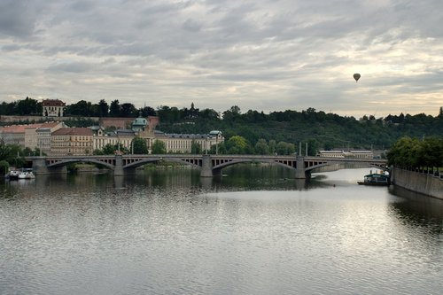 Balloon over Prague
