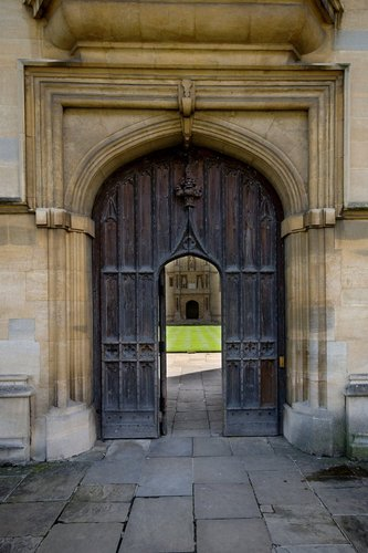 Wadham College door