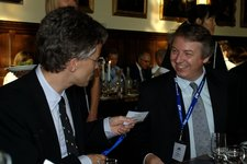 Bob DuCharme and Chris Selwyn at the formal dinner