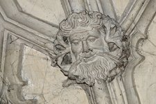 The Green Man on the ceiling of The Divinity School at The Bodleian