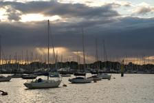 Lymington Harbour (behind us)
