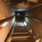 Ascending from the burial chamber