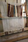 A tied wool rug