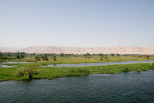 On the Nile looking toward the Valley of the Kings
