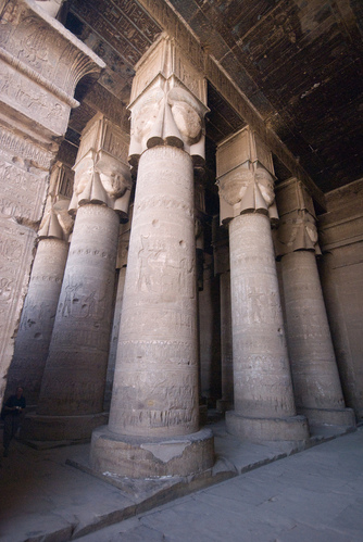 Hathor column capitals