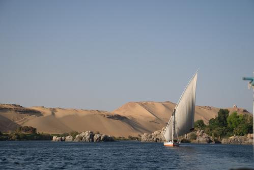 Felucca with Sahara