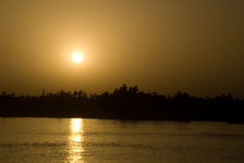 Sunset over the Nile