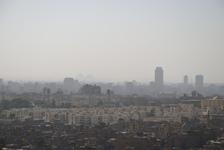 Pyramids across Cairo