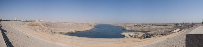 Below the Aswan Dam Panorama