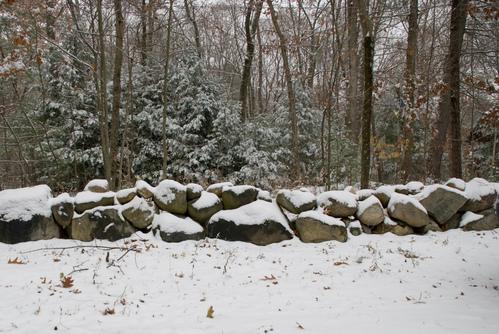 Snowy wall
