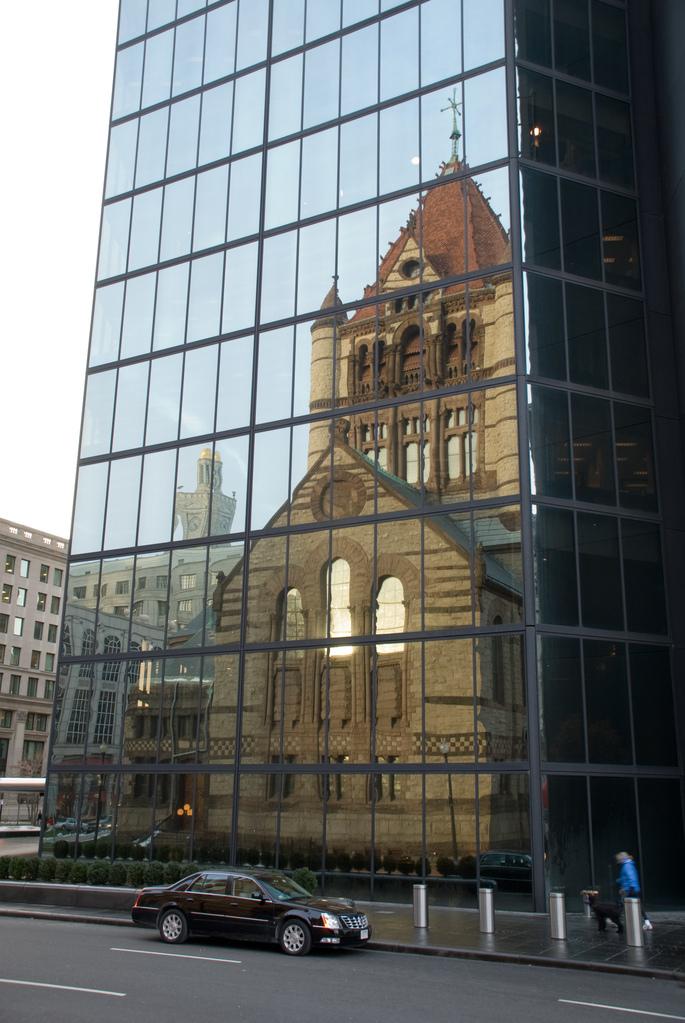 Trinity Church reflected