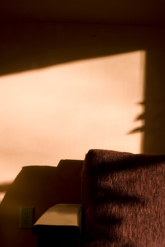 Light and shadow on the futon