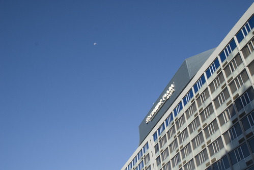 Hotel with moon