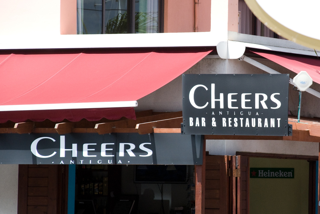 Proof that every town has a Cheers bar