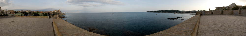 Antibes seaside panorama