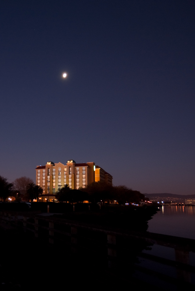 Moon over the Embassy Suites