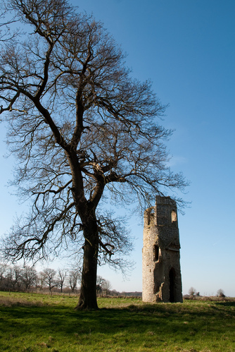Old church tower at Wolterton Hall