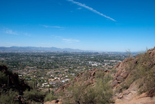 Looking down on Phoenix