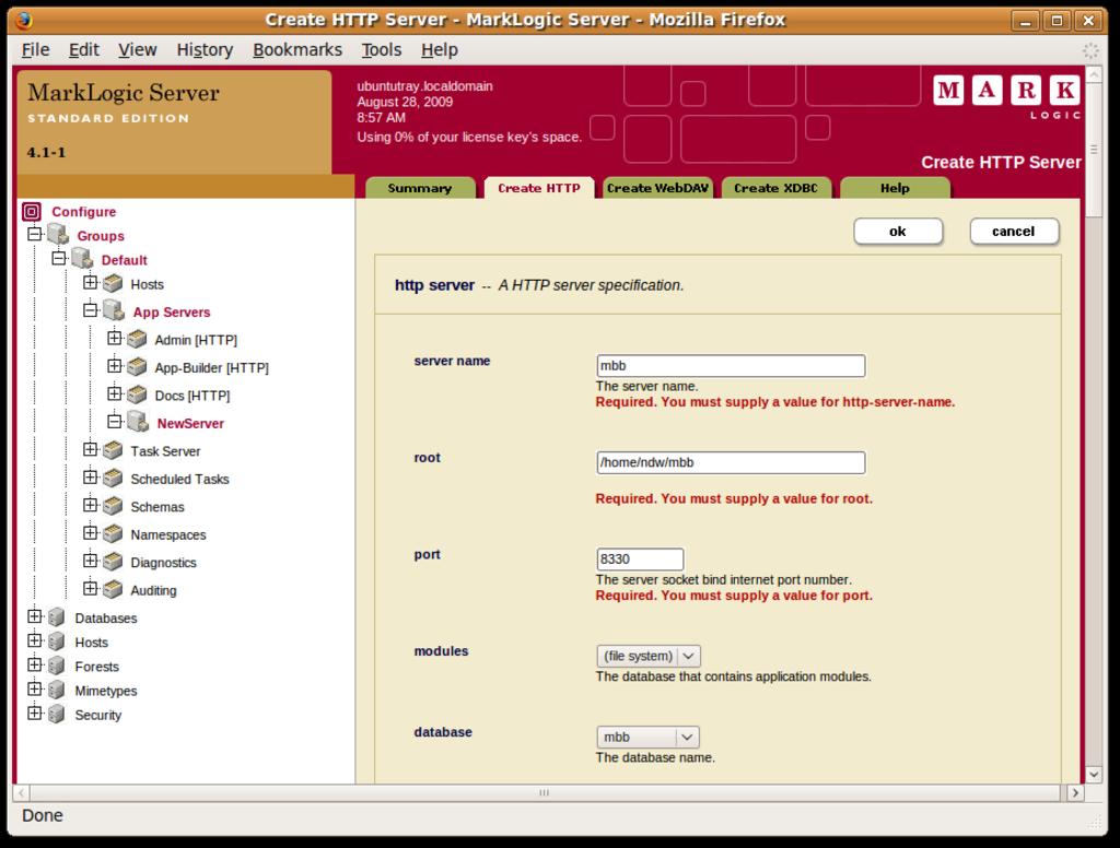 Create an HTTP application server
