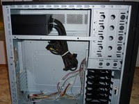 Case with power supply in place