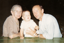 With my paternal grandmother and me, I presume, c. 1968?