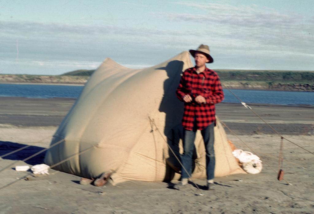 Camping in Alaska, c. 1960