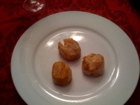 Fourth course: cajun scallops